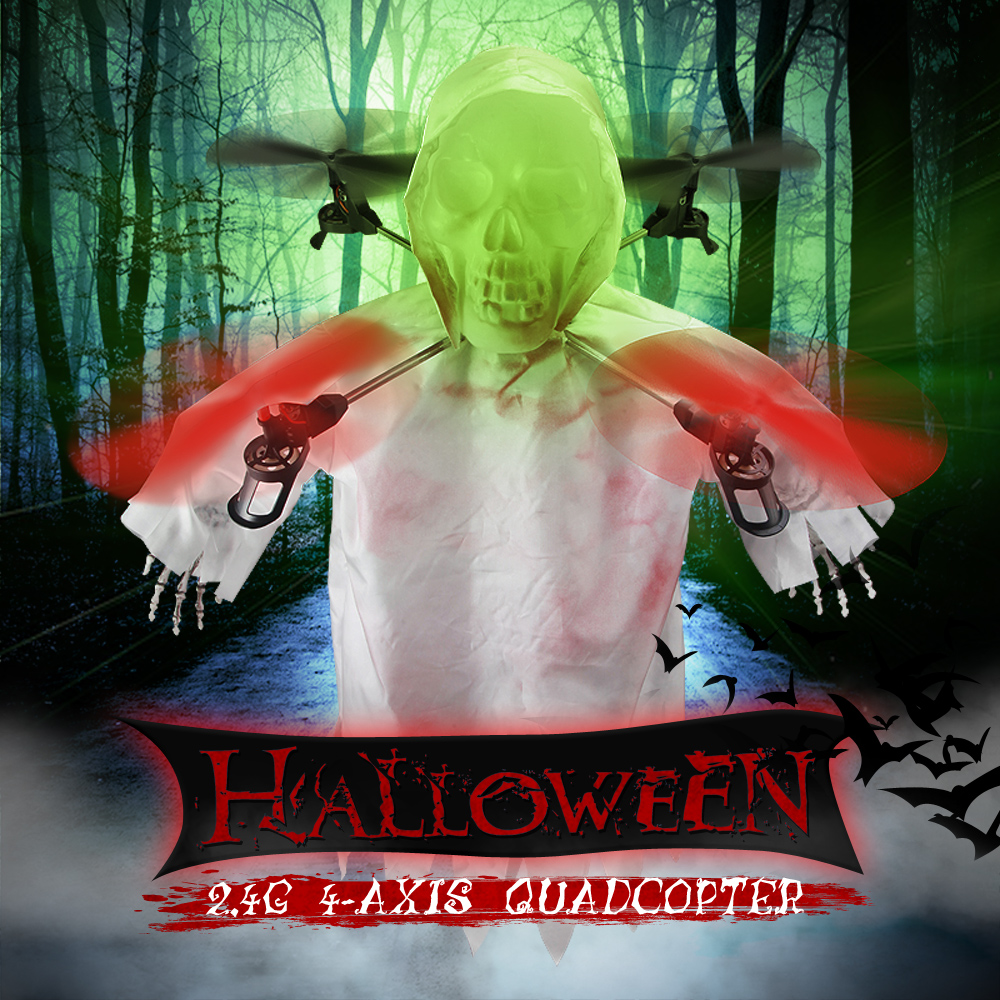 Realacc H400 Halloween Skull Headless Mode LED RC Quadcopter
