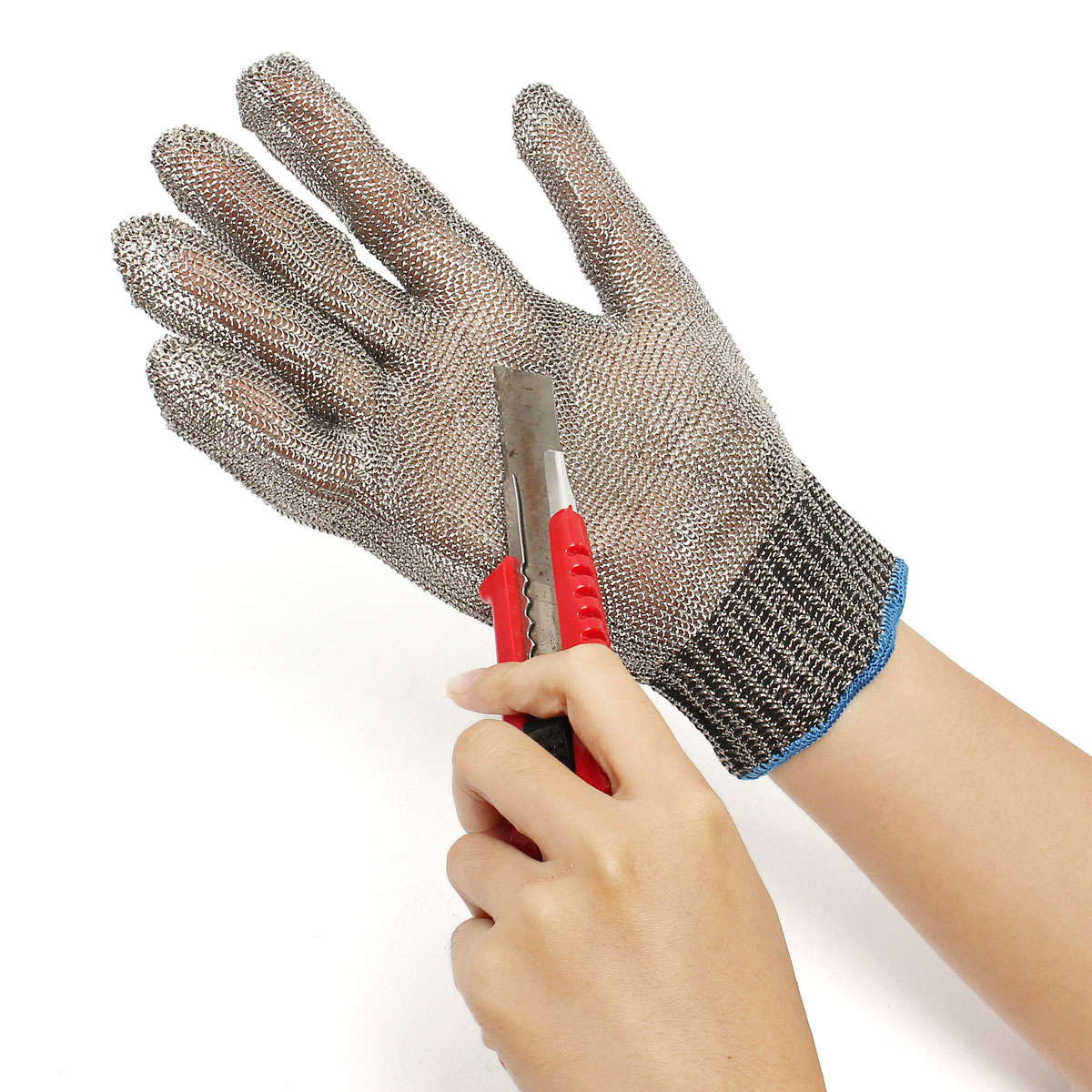 Safety Cut Proof Stab Resistant Stainless Steel Metal Mesh Butcher Gloves top quality 304l stainless steel mesh knife cut resistant chain mail protective glove for kitchen butcher working safety