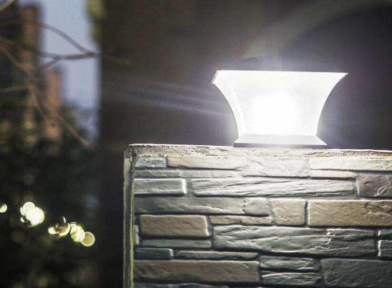 Solar Power 18 LED Waterproof Pillar Light Garden Lawn Landscape Decoration Lamp