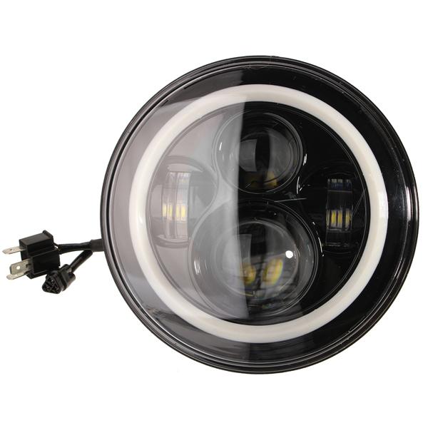 7 Inch Round LED Headlights Halo Angle Eyes For Jeep Wrangler JK LJ TJ 1997-2015
