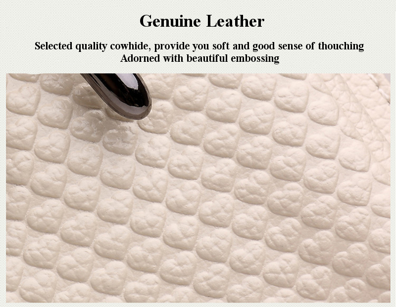 Genuine Leather Embossing Diagonal Packet Coin Purse Shoulder Bag For Under 5.5 Inch Mobile Phone