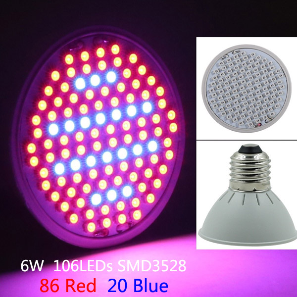 6W 86 Red 20 Blue E27 LED Grow Bulb Plant Lamp Garden Greenhouse Plant Seedling Light от Banggood INT