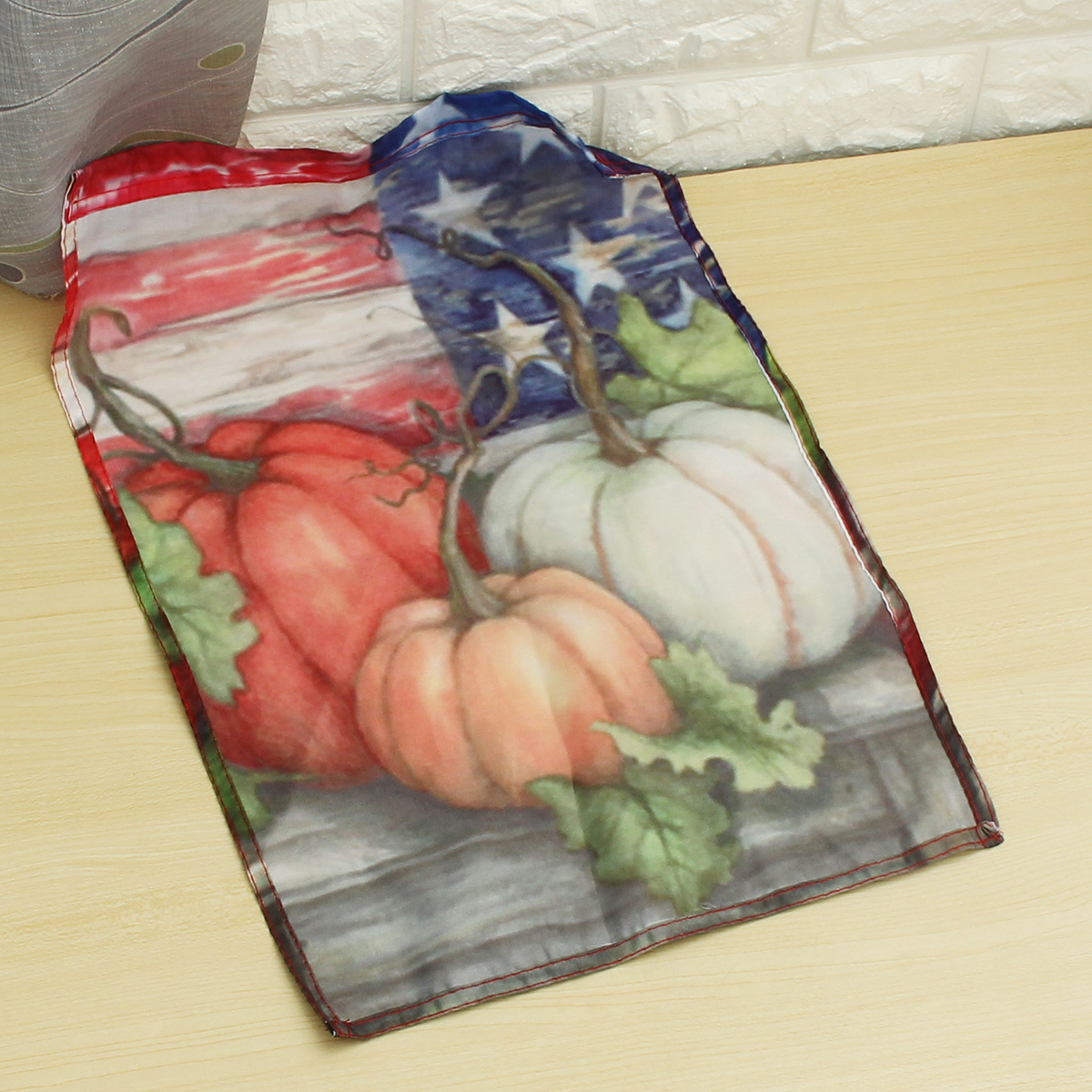 30x45cm Halloween Polyester Pumpkin USA Flag Garden Holiday Decoration