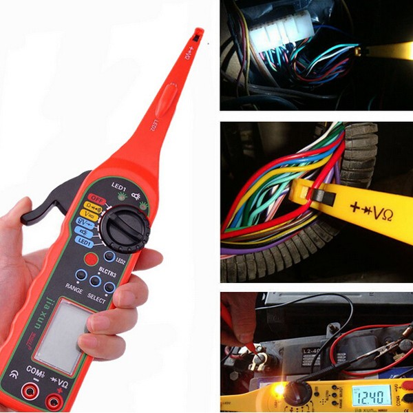 0-380V Multi-function Auto Circuit Tester Multimeter Lamp Car Repair Tool Automotive Multimeter 1 pair silicone wire universal probe test leads pin for digital multimeter needle tip multi meter tester probe 20a 1000v