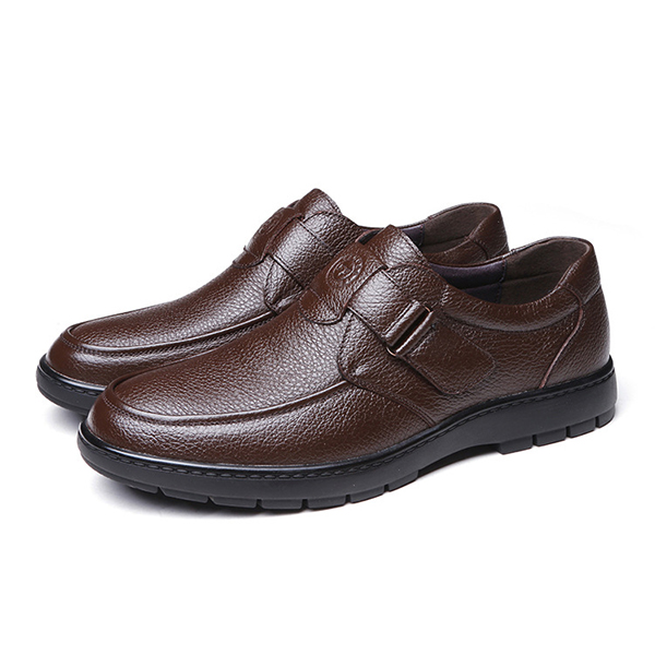 Comfy Genuine Leather Hook Loop Oxfords for Men