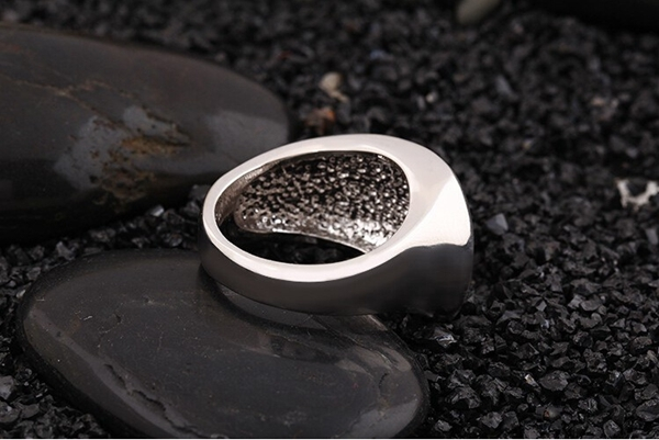 Alloy Finger Ring, Irregular Polished Ring