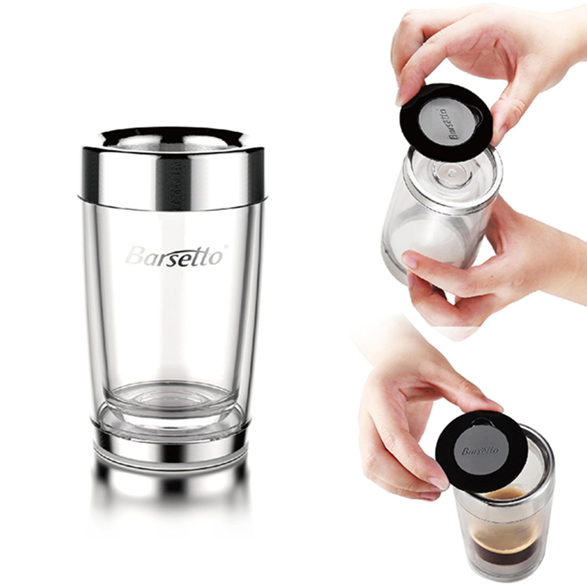 Coffee Maker By Hand : NEW Portable Hand Press Coffee Maker Mini Espresso Pods Coffee Machine