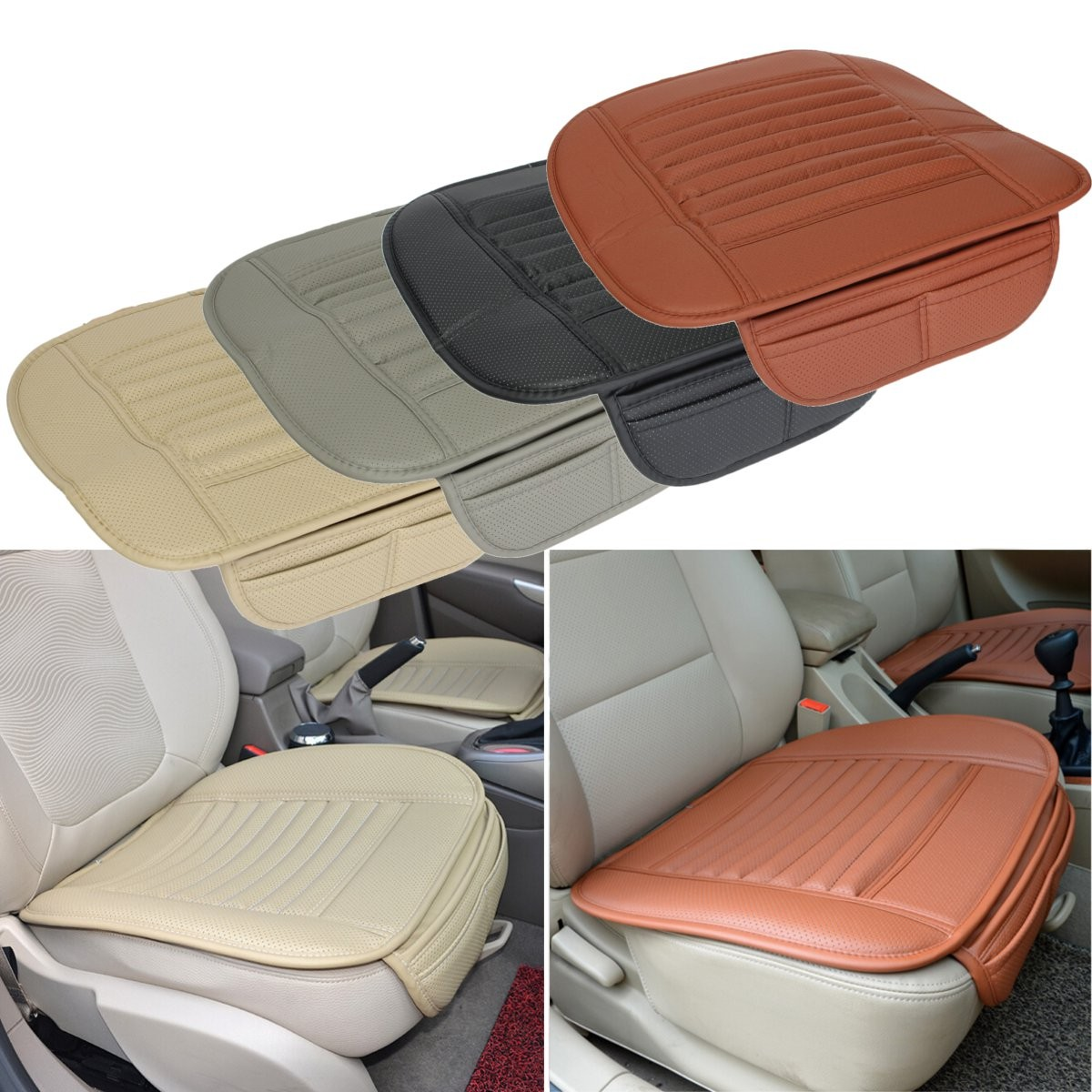 Universal Seatpad PU leather Car seat covers for Auto Car Office Chairs Interior 2017 luxury pu leather auto universal car seat cover automotive for car lada toyota mazda lada largus lifan 620 ix25