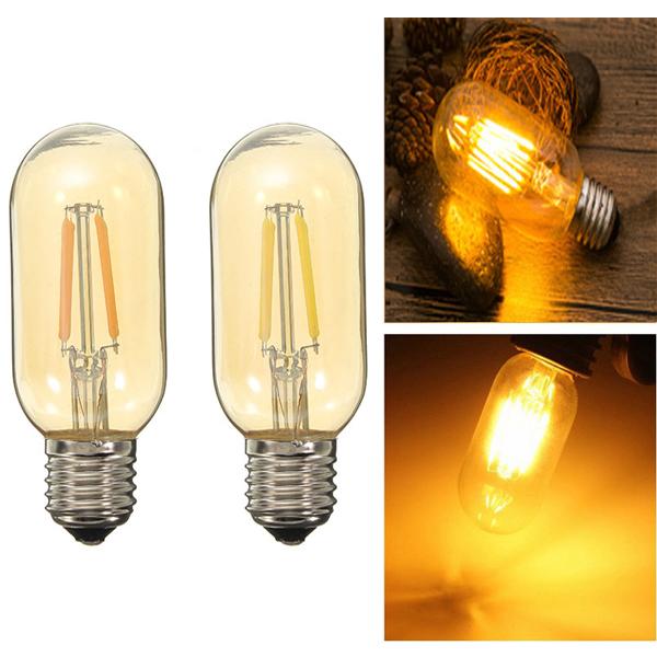 T45 E27 4W White/Warm White Dimmable LED Edison Filament Light Bulb Energy Saving Lamp 110V/220V