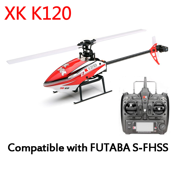 XK K120 Shuttle 6CH Brushless 3D6G System RC Helicopter RTF 3pcs battery and european regulation charger with 1 cable 3 line for mjx b3 helicopter 7 4v 1800mah 25c aircraft parts