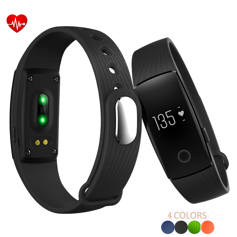 ID107 Bluetooth 4.0 Smart Bracelet Smartband Heart Rate Monitor Fitness Tracker For IOS Android sports men watch smart bracelet fitness tracker heart rate monitor wristband pedometer sleep monitor watch for android phone ios