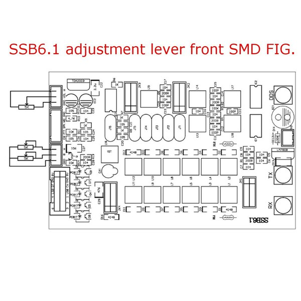1c078f4b-aa4a-46ec-9eec-730d0ec195da 6-band HF SSB Shortwave Radio Transceiver Board DIY Kit