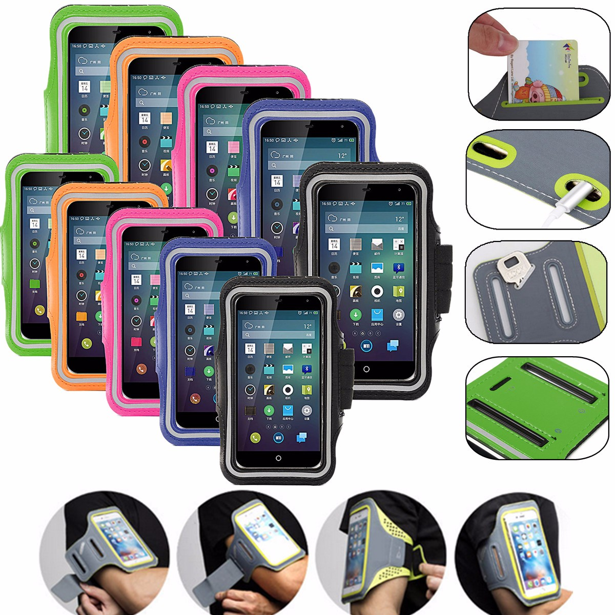 Buy Arm Band Sports Armband Phone Case Holder Cover iPhone 7/7 Plus 6 6s 6Plus 6sPlus