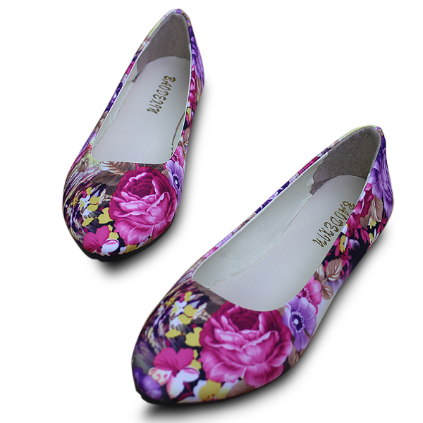 US Size 5-11 Women Flats Shoes Comfortable Casual Fashion Flower Slip On Flat Loafers Shoes cresfimix sapatos femininas women casual size 35 to 50 flat shoes lady cute spring