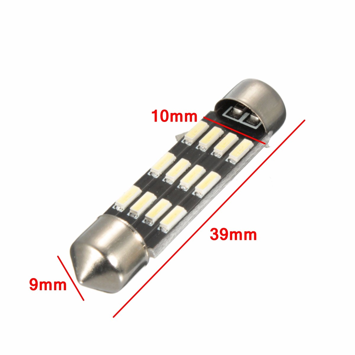 Pair Canbus No Error 12LED 4014SMD Car Festoon Reading Number Plate Lights
