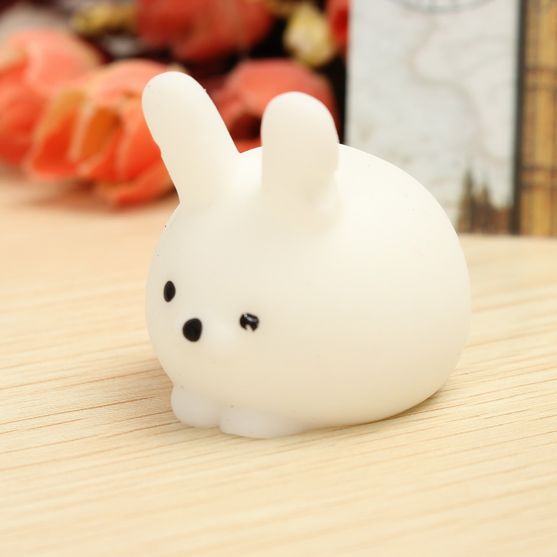 Squishy Squooshems Bunny : Mochi Bunny Ball Squishy Squeeze Cute Healing Toy Kawaii Collection Stress Reliever Gift Decor ...