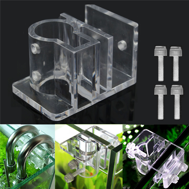 Clear Acrylic Aquarium Fish Tank Hose Tube Water Pipe Fixing Clip