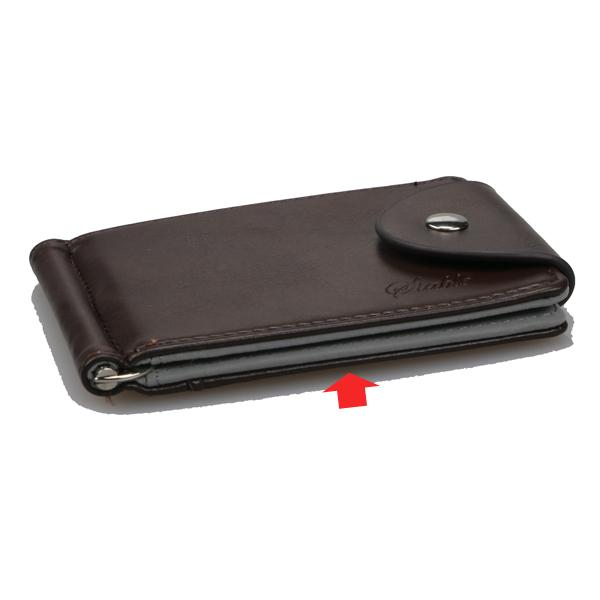 メンズPUレザーショート財布ビジネス横型財布クレジットカードホルダー