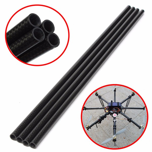 4pcs 3K 8mm x 10mm x 500mm Roll Wrapped Carbon Fiber Tube Boom for Multicopter diy taper type box metal stencil carbon steel cutting die