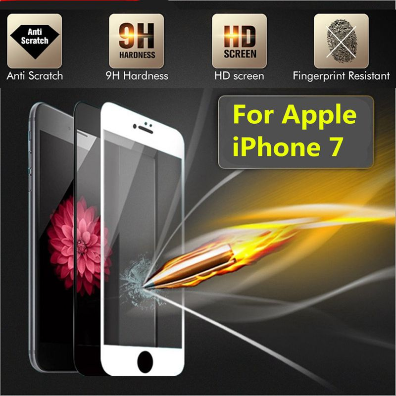 9H Anti-scratch Fingerprint Resistant Tempered Glass Screen Protector For iPhone 7