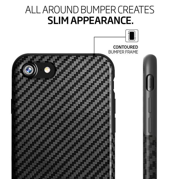 Carbon Fiber Design TPU Soft Case Full Cover Shockproof Case For iPhone 7 4.7 Inch