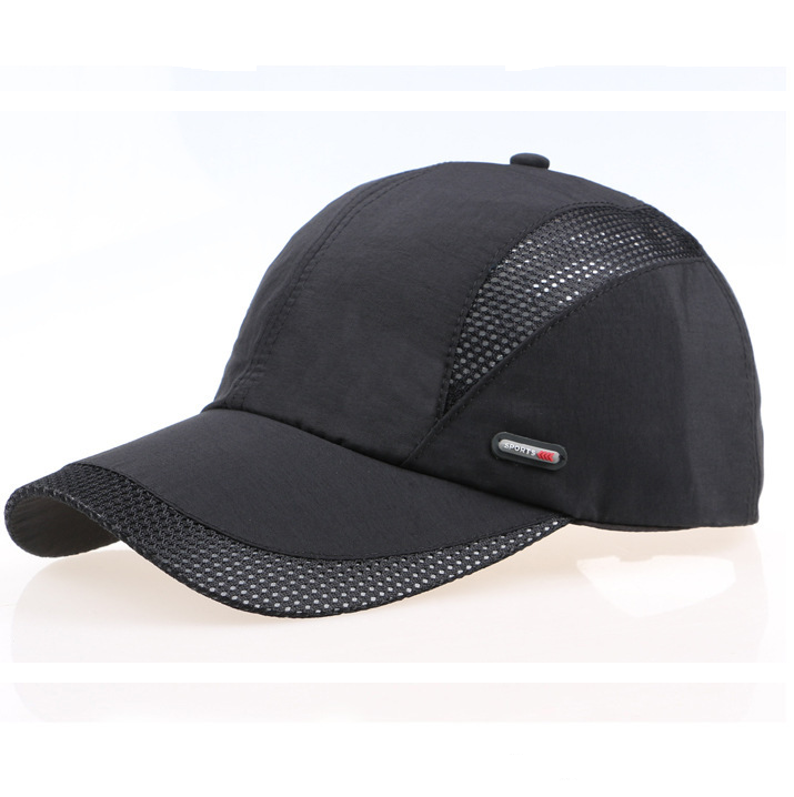 Men Hat Breathable Polyester Acrylic Outdoor Sports Golf Mesh Baseball Cap baseball cap hat leather men winter cotton ear elderly outdoor peaked cap hat