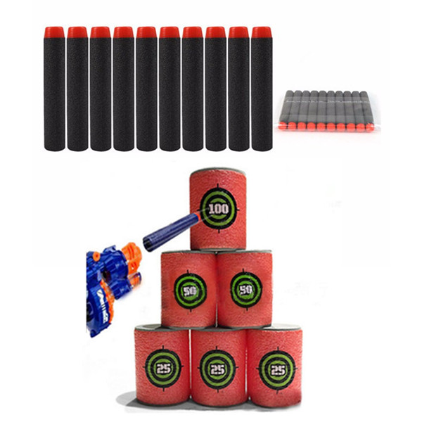 100PCS Refill Black Bullets Dart For Nerf N-strike Elite Rampage Retaliator Series Blasters - Photo: 1