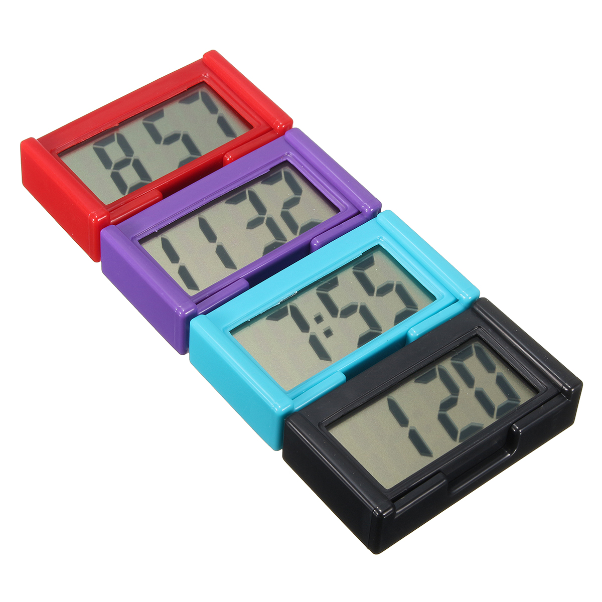 4 Colors Automotive Digital Car LCD Clock Self-Adhesive Stick On Time Portable (Eachine1) Cambridge Цены на товары