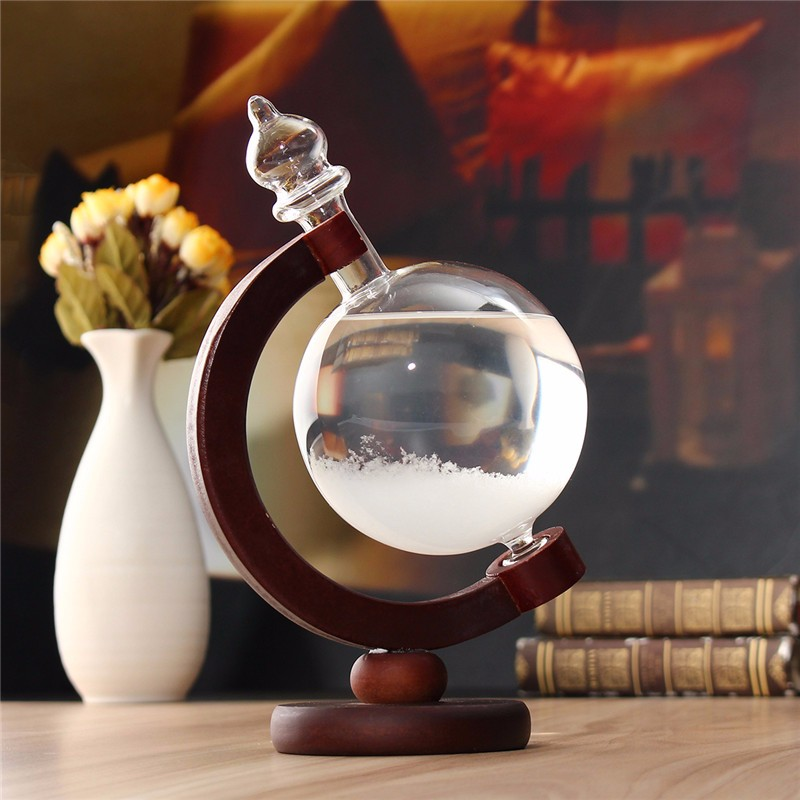 Weather Forecast Crystal Wood/Glass Base Home Decor Christmas Gift - Photo: 7