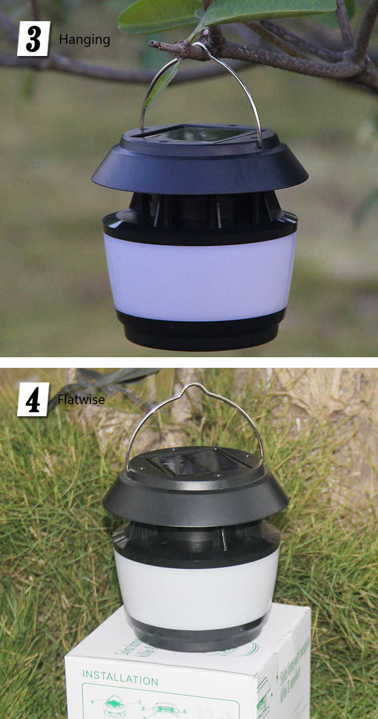 Solar Power Sonic Wave Anti Mosquito Led Light Garden