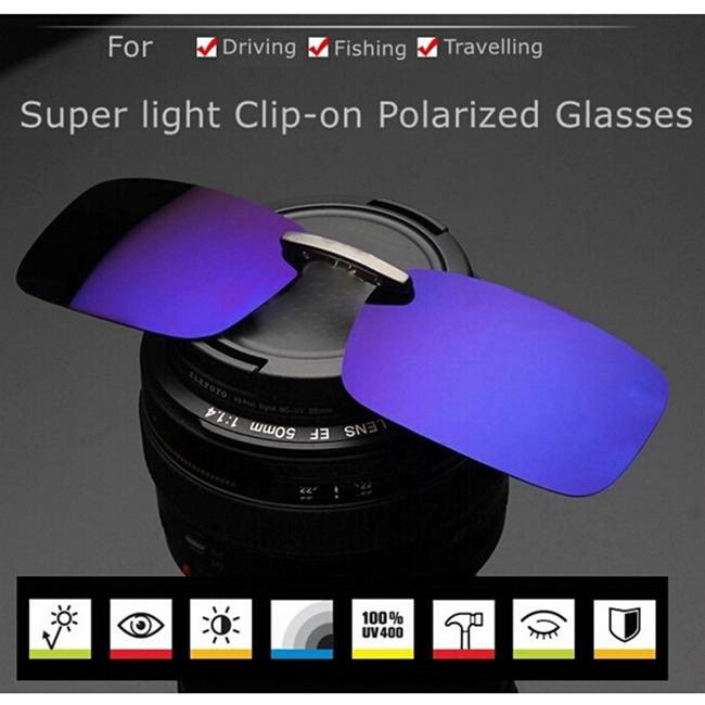 где купить  Polarized Clip On Sunglasses Sun Glasses Driving Night Vision Lens For Metal Frame Glasses  дешево