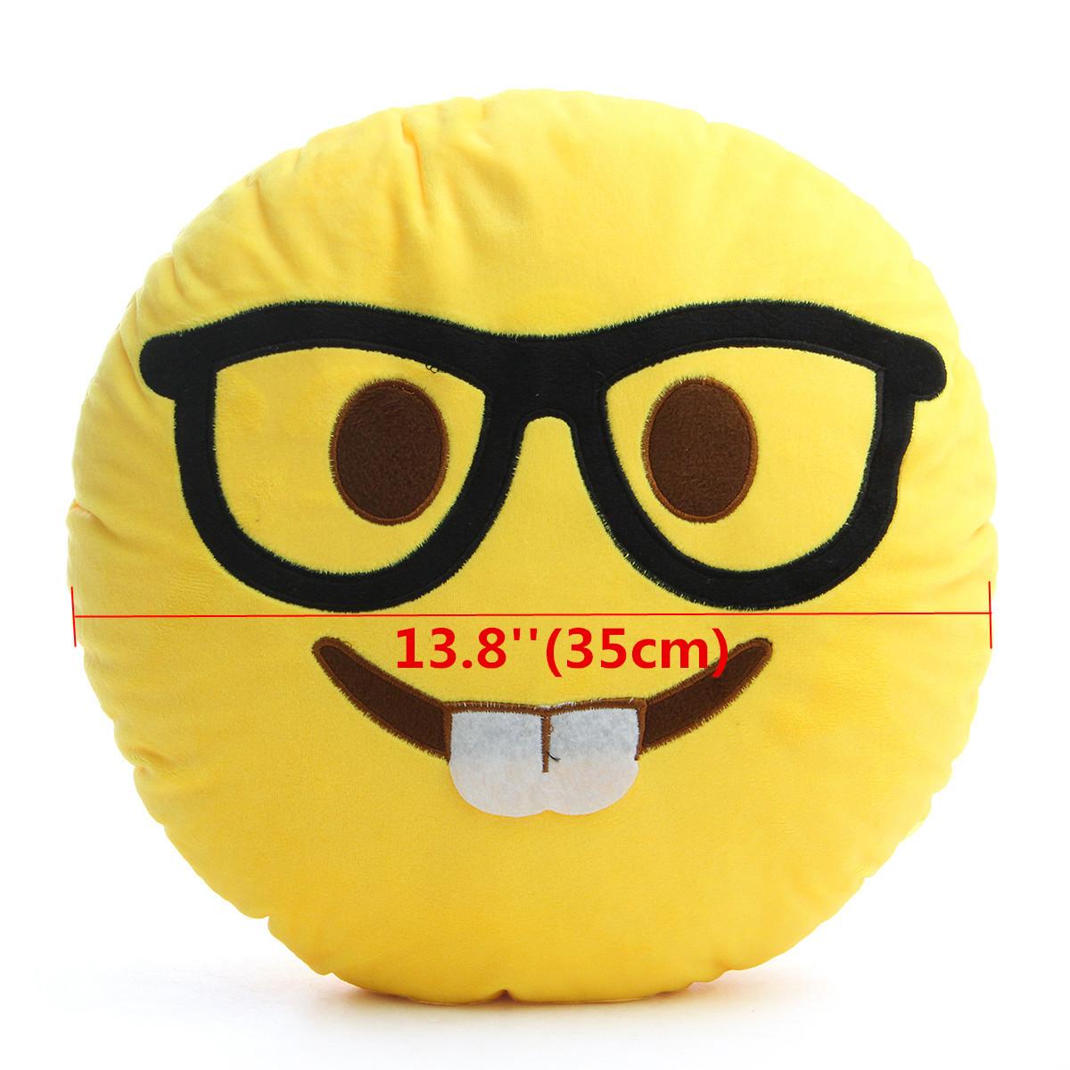 35CM Large Front Teeth Nerd Emoji Emoticon Plush PP Cotton Soft Toy - Photo: 6