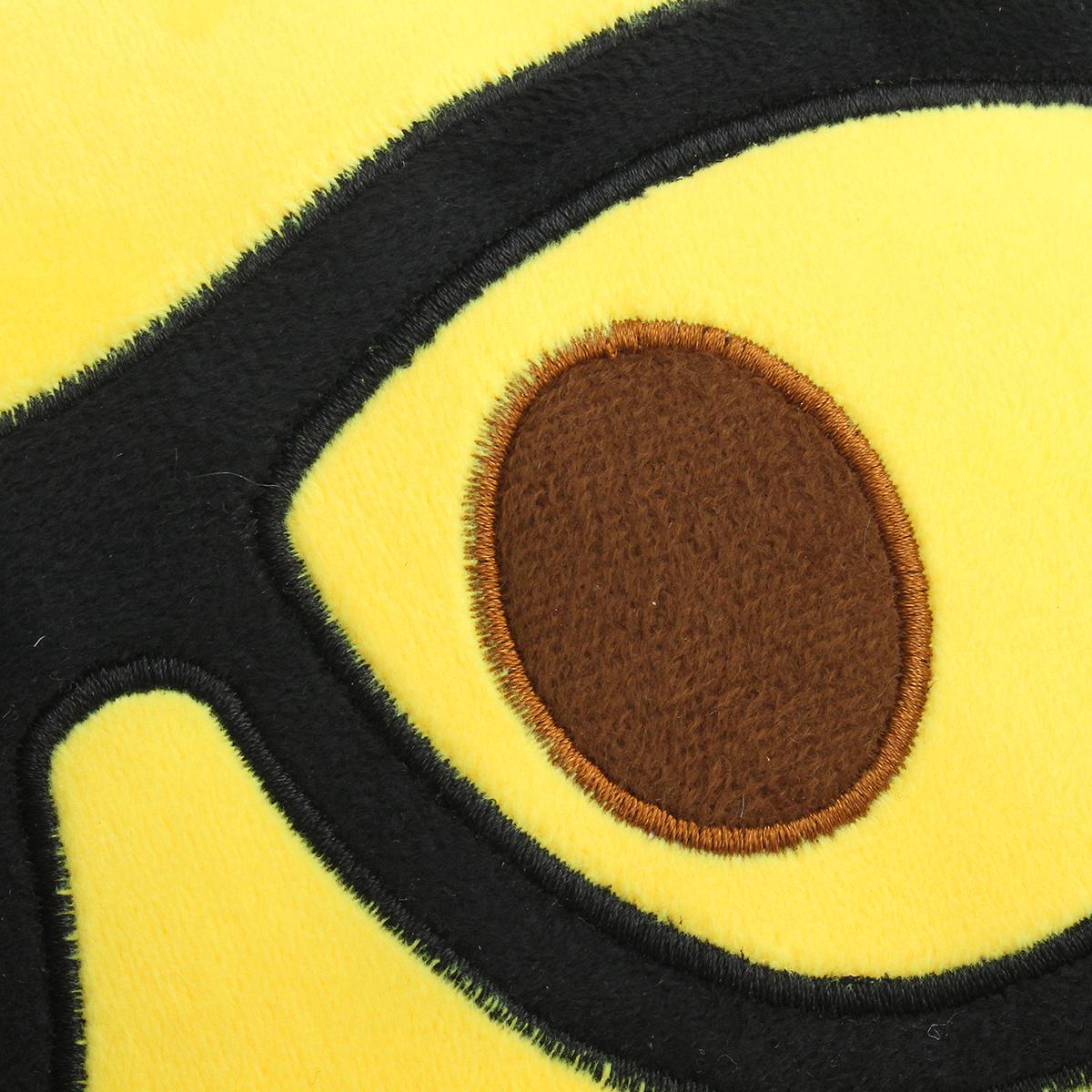 35CM Large Front Teeth Nerd Emoji Emoticon Plush PP Cotton Soft Toy - Photo: 4