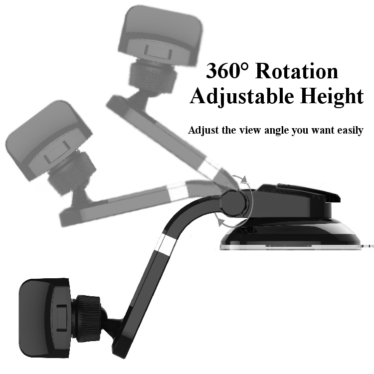 Universal 360 Rotation Dashboard Sucker Suction Cup Desk Stand GPS Holder for Phone Under 5.5-inch