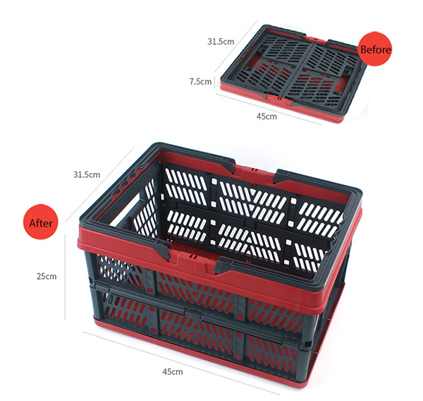 Outdoor Folding Storage Basket PP Plastic Waterproof Compression Packing Picnic Bag Organization Box