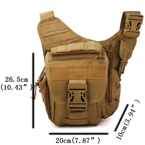 Men Canvas Leisure Crossbody Bag Outdoor Travel Hiking Fishing Multifunction Tactical Saddle Bag