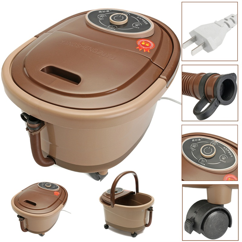 Electric Heated Foot Bath Massager Vibration Infrared Bucket