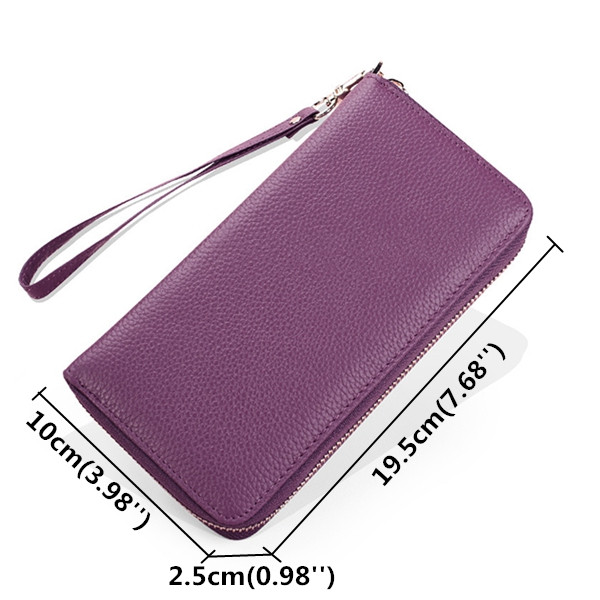 Women Genuine Leather Multi-Function 20 Card Bits Clutch Bag