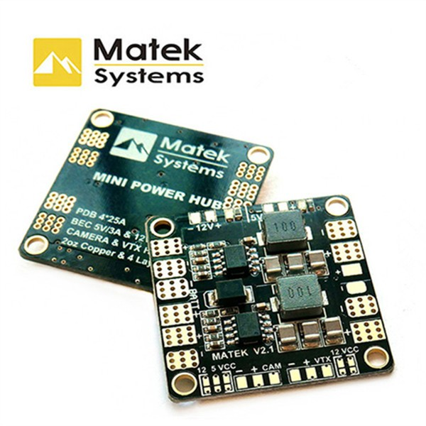 Matek Mini Power Hub Power Distribution Board With BEC 5V And 12V For FPV Multicopter kids velvet hoodie with pants