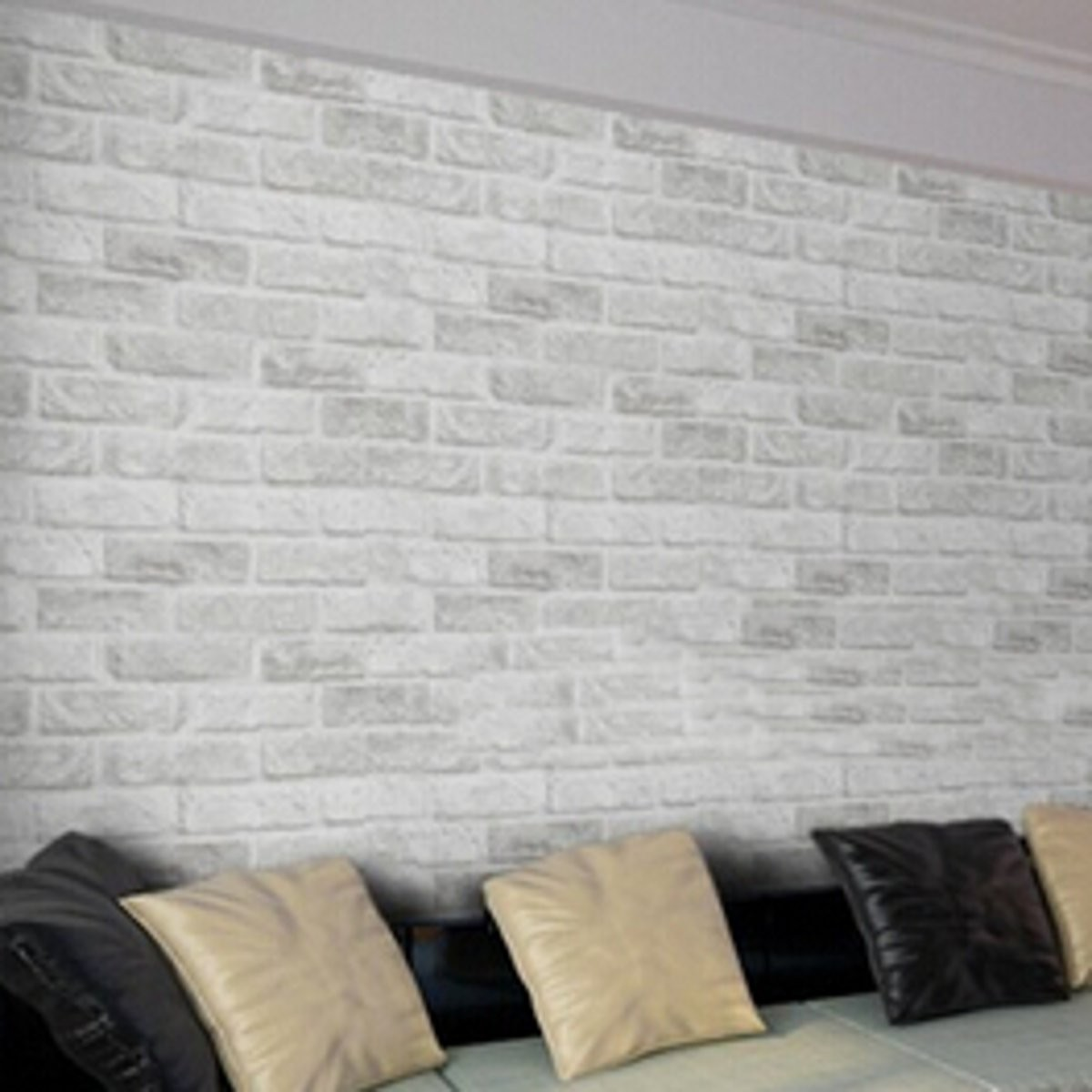Wall Decor Contact Paper : M white grey brick stone prepasted adhesive contact