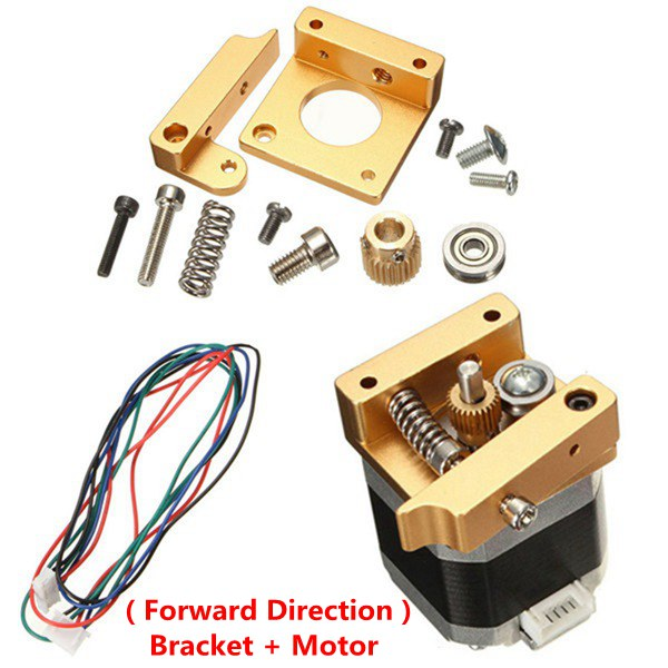 MK8 Aluminum Extruder Kit With NEMA 17 Stepper Motor 1.75MM For 3D Printer RepRap Prusa i3 newest upgraded quality high precision reprap prusa i3 diy 3d printer kit with 1 roll filament 8gb sd card and lcd for free