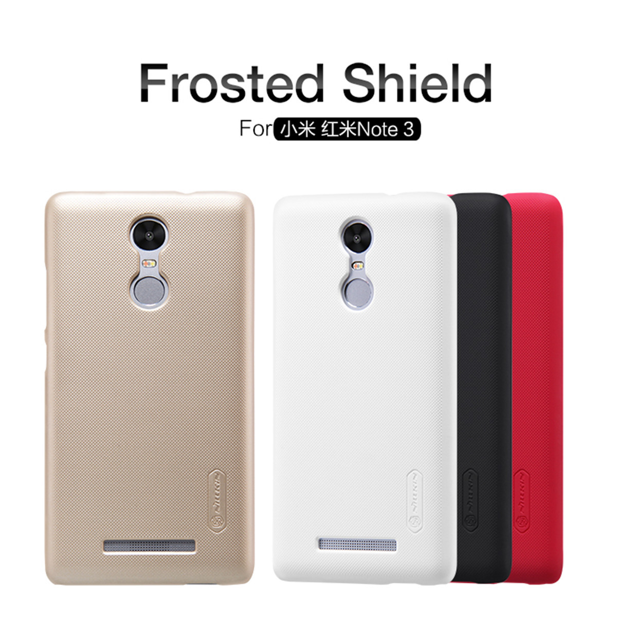 NILLKIN Frosted Shield Matte PC Hard Back Cover Case For Xiaomi Redmi Note 3 чехол для xiaomi redmi 5 nillkin super frosted shield case черный
