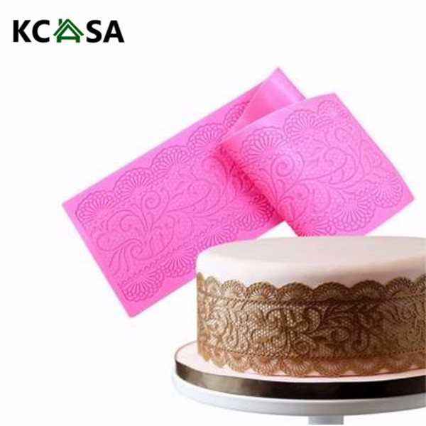 KCASA Silicone Cake Lace Mats Mold Fondant Cake Decorating Tools Wedding Flower Embossing Mould 10 in 1 fondant cake decorating flower modelling tool set multicolored
