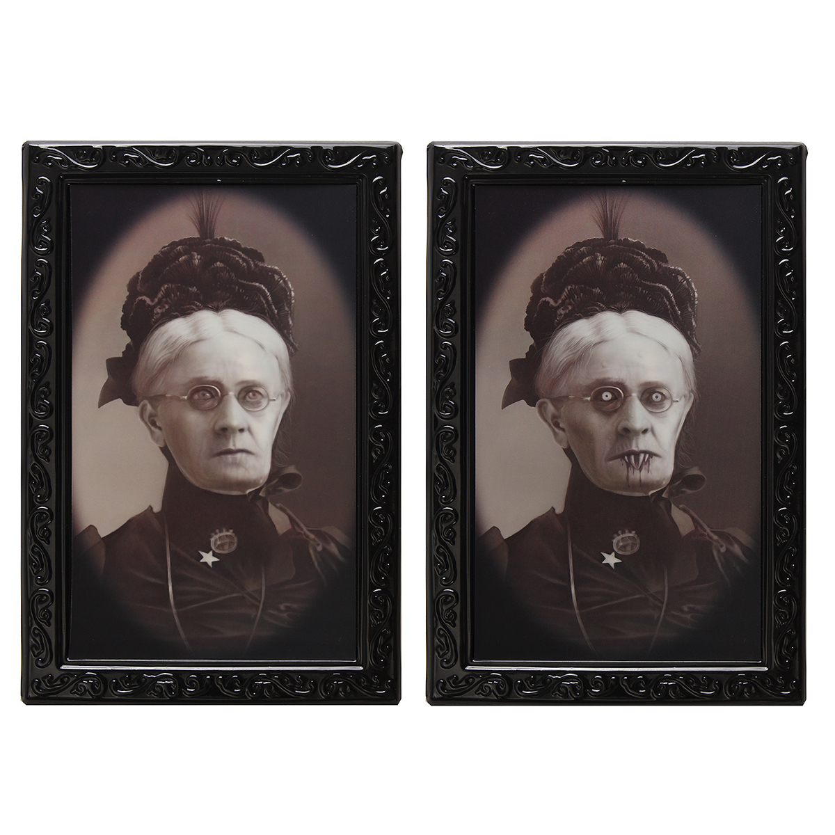 Hallowmas Lenticular 3D Changing Face Horror Portrait Haunted Spooky Decorations - Photo: 1