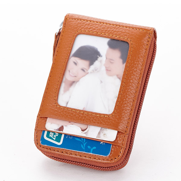 Men Women Leather Capacity Card Holder Portable Coin Bag