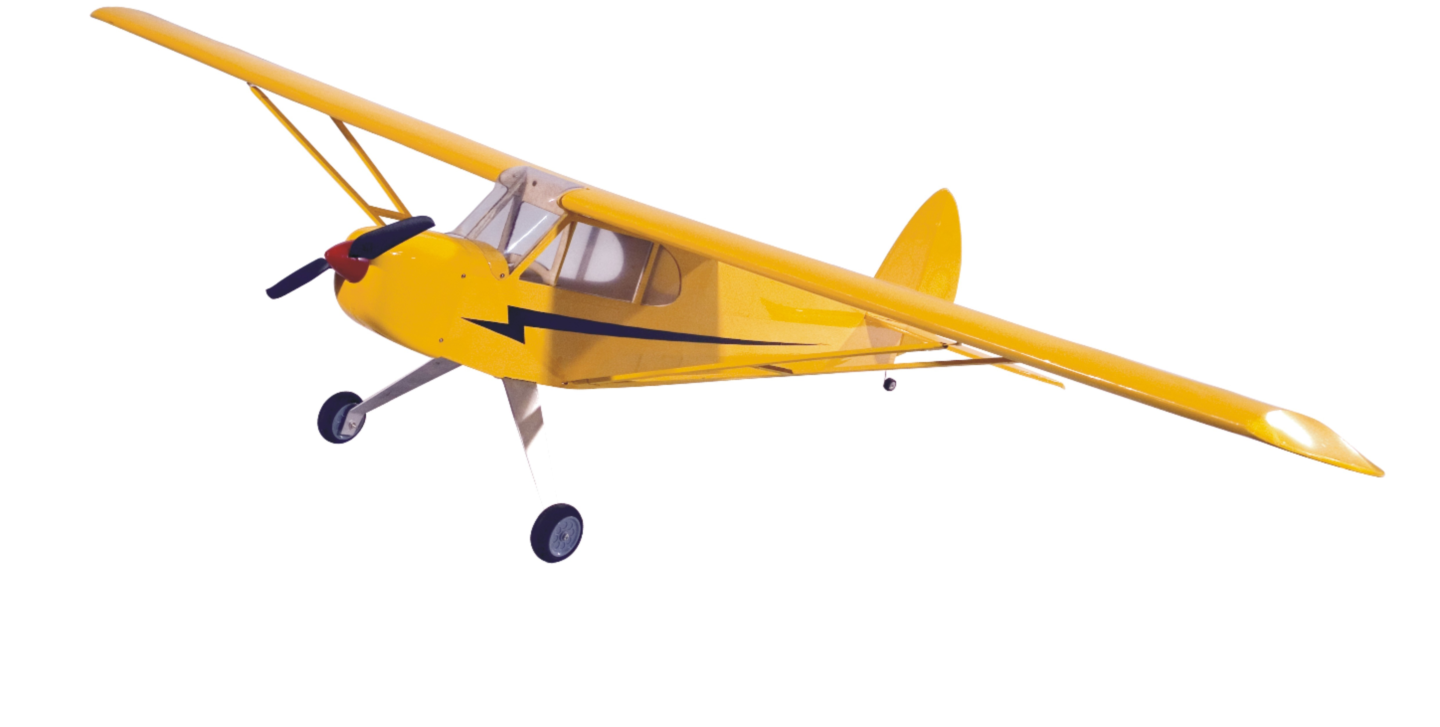 J3 1190mm Wingspan Balsa Wood Electric Scale RC Airplane Glider KIT - Photo: 1