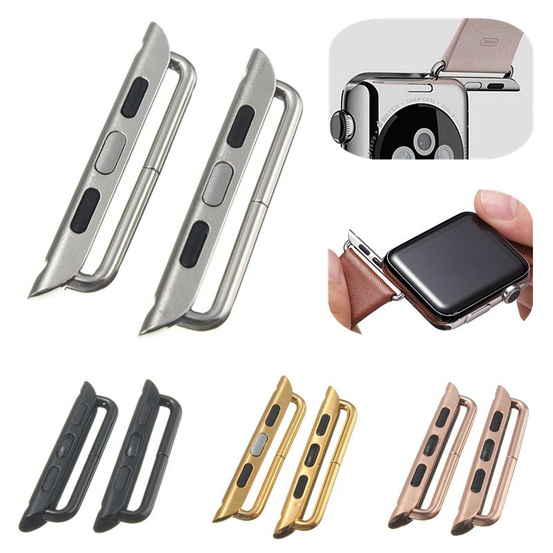 Stainless Steel Watchband Adapter Watch Strap Connector For Apple Watch iWatch 38/42mm