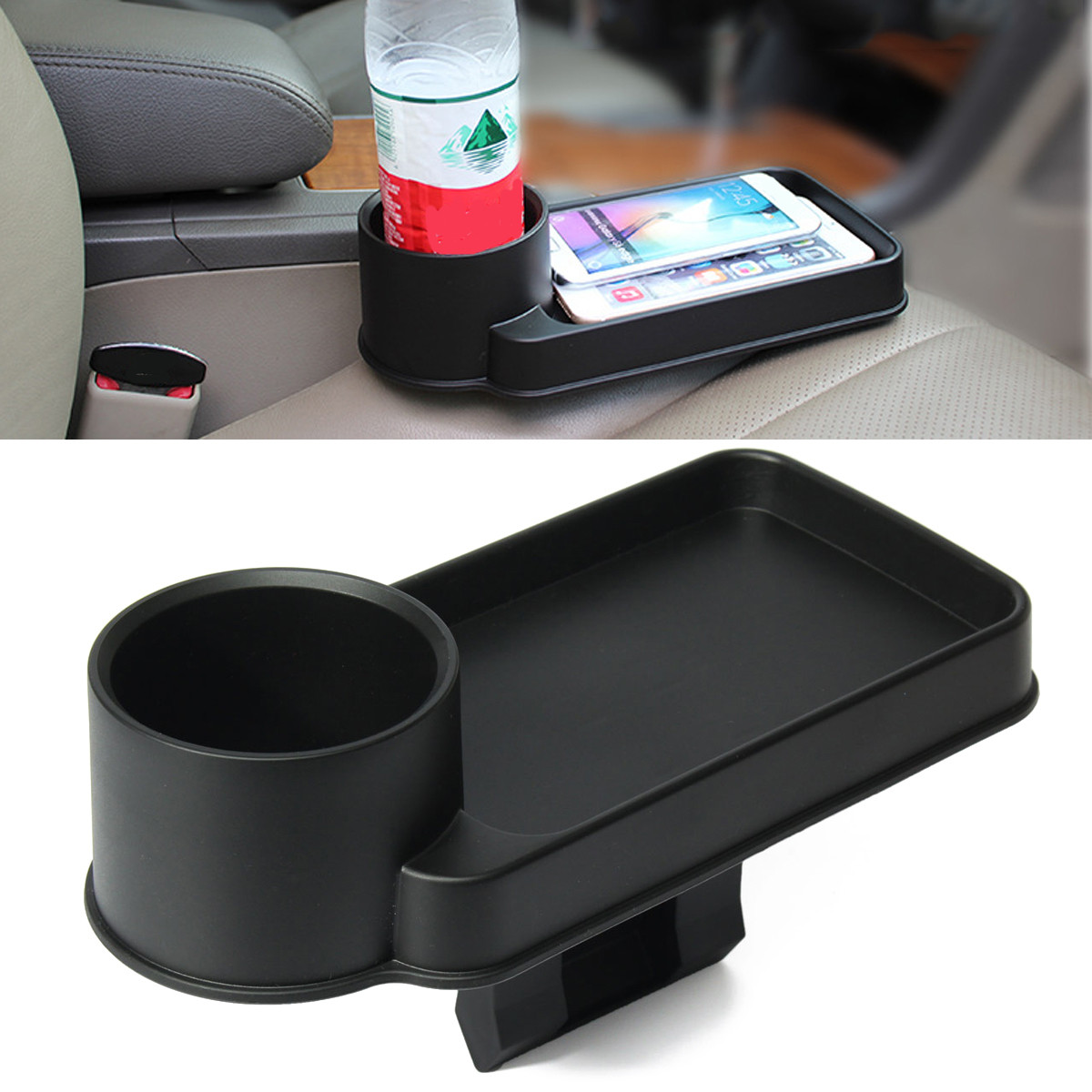 Durable Black Cup Bottle Holder Drink Beverage Seat Wedge Car Auto Truck Mount