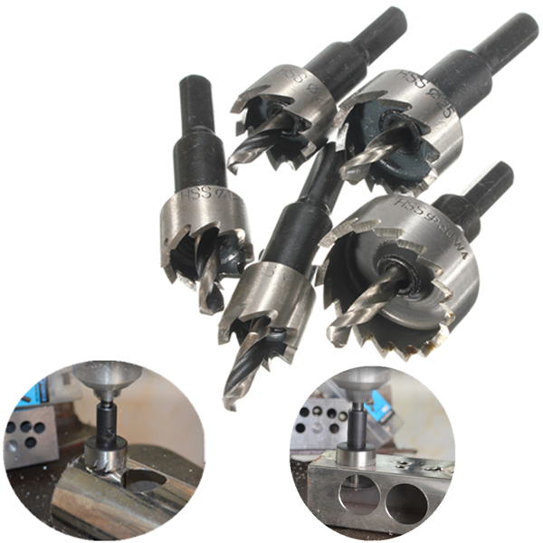 5pcs Hole Saw Tooth HSS Hole Saw Cutter Drill Bit Set 16/18.5/20/25/30mm 1pc 5 inch automatic center punch hss spring loaded marking starting holes tool