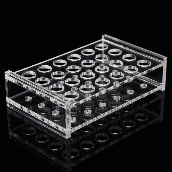 24 Holes 1.5ml Clear Centrifugal Tube 11mm Dia Test Tubing Rack Holder